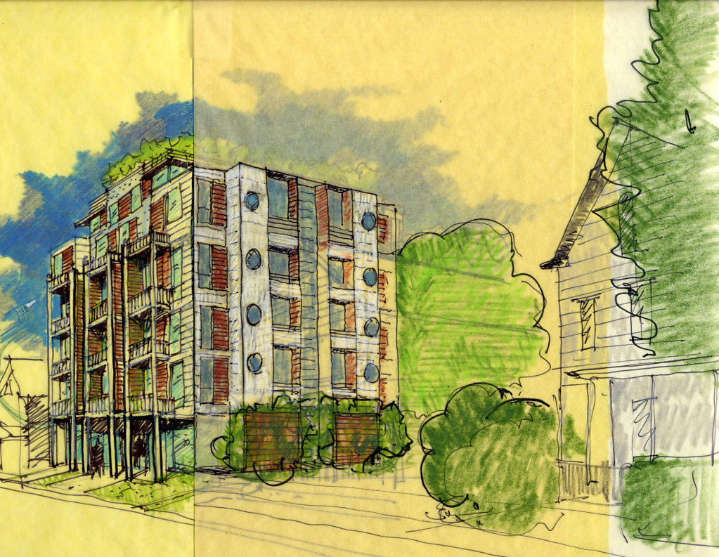 New Apartment Building & Community Center
